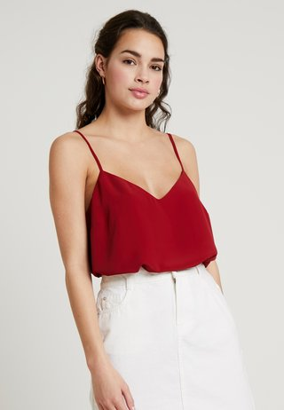 CROSS BACK CAMI - Top - burgundy