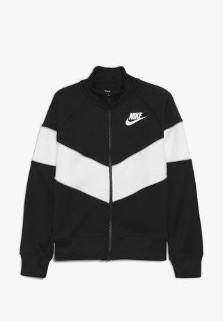 HERITAGE  - Zip-up hoodie - black/white/wolf grey