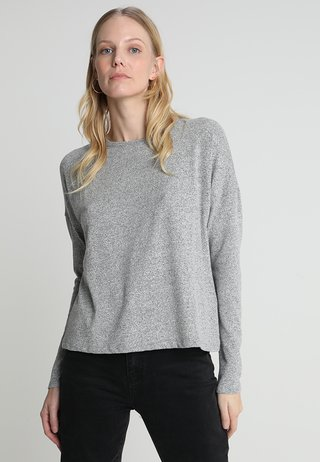 SVENIA - Long sleeved top - iron grey melange