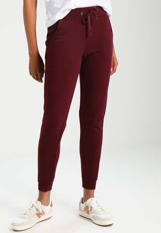 BASIC BASIC  - Tracksuit bottoms - dark burgundy