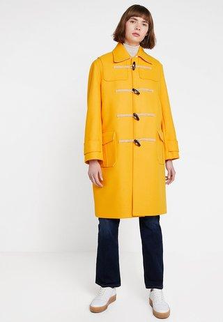 STRUCTURED DUFFEL COAT - Classic coat - yellow