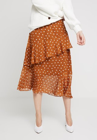 ILARIA LONG DOT SKIRT - A-Linien-Rock - toffe brown