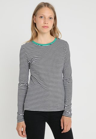 Langarmshirt - white/black/green