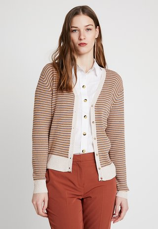 STRIPE V NECK - Strickjacke - multi-coloured