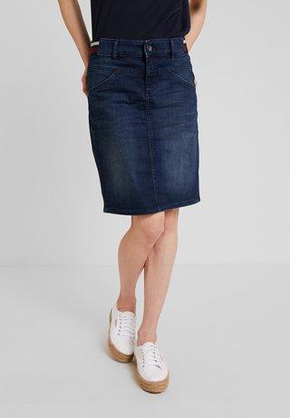SKIRT BASIC - Pencil skirt - dark blue denim