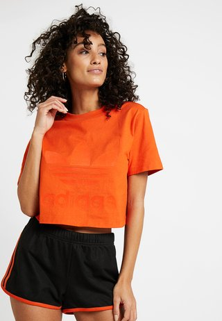 CROPPED TEE - Print T-shirt - craft orange