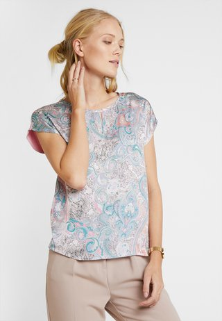 Bluse - milky/rose/multi