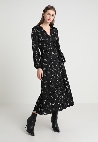 PRINTED WRAP  - Maxi dress - black