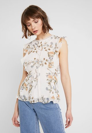WHITNEY RUFFLE DETAIL BLOUSE - Bluse - antique rose