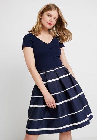 Vestido de cóctel - dark blue/white