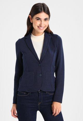 FEMININE OTTOMAN  - Blazer - real navy blue