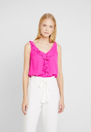 RUFFLE CAMI - Blouse - pink