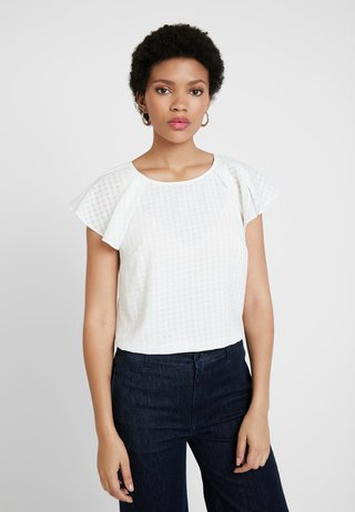 CHECK - Bluse - ivory