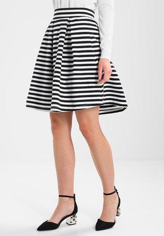 A-line skirt - dark blue/offwhite