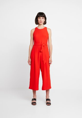 CROPPED CREW NECK SOLID - Jumpsuit - hot red