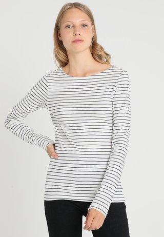 Long sleeved top - offwhite/dark blue