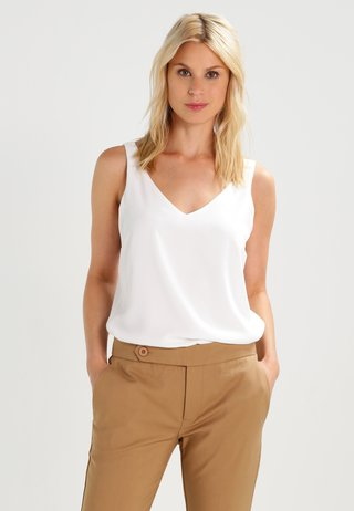V NECK CAMI - Blouse - ivory