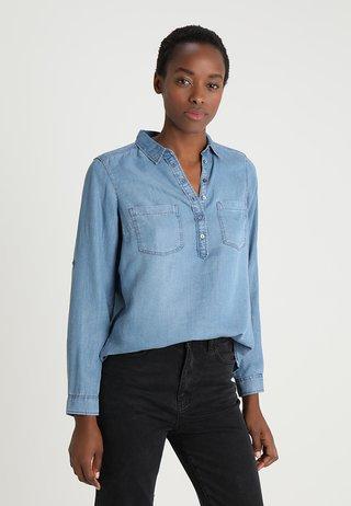 BLOUSE - Bluse - blue denim