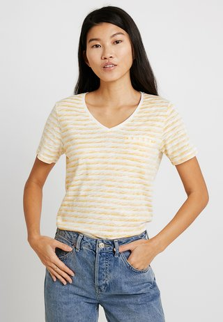KURZARM - T-shirt print - pure yellow