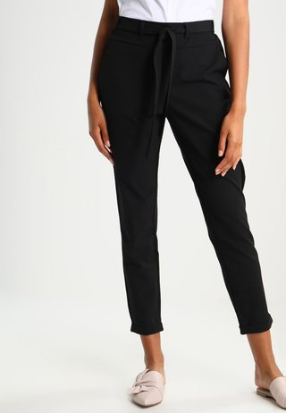 JILLIAN BELT PANT - Pantalon classique - black deep