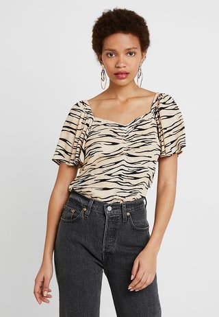 ROUCHED FRONT TOP - Blouse - multi-coloured