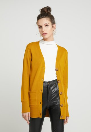 BUTTON THROUGH CARDI - Vest - ochre