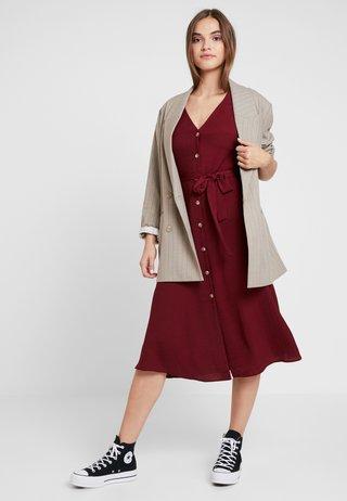 Vestido camisero - dark burgundy