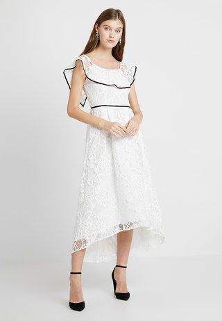 TIPPED BARDOT DRESS - Cocktailkjoler / festkjoler - off white