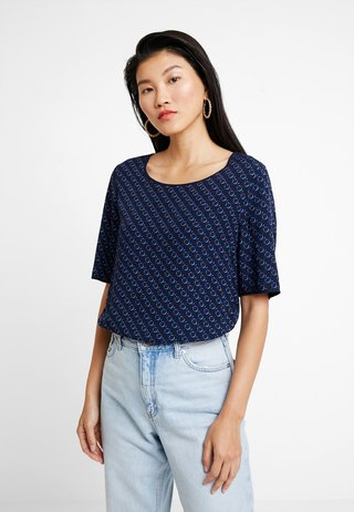BLOUSE CREW NECK EASY SHAPE - Bluser - combo