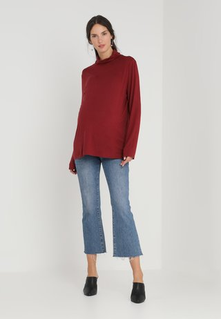 VEROLL  - Long sleeved top - dark burgundy