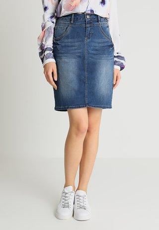 AMALIE CLASSIC SKIRT - Denimová sukně - rich blue denim