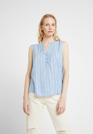 VERTICAL STRIPE - Bluse - blue