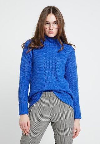MARGE COWL NECK - Strickpullover - blue