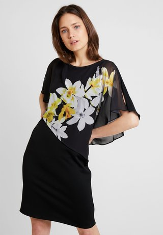 LEMON ORCHID OLAYER DRESS - Cocktailkleid/festliches Kleid - black