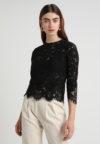 WITH SLEEVES - Bluse - black