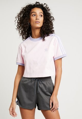CROPPED TEE - Print T-shirt - clear pink