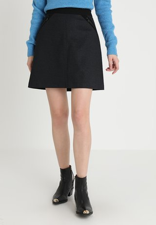 Missguided Tall ALINE SKIRT Jeansnederdel cowboy