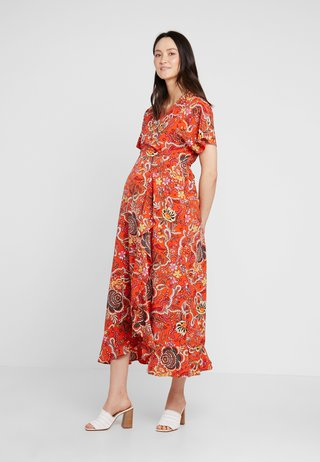 WRAP DRESS - Vestido largo - red