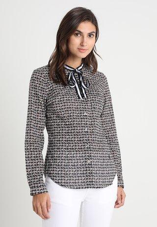 Button-down blouse - black/orange