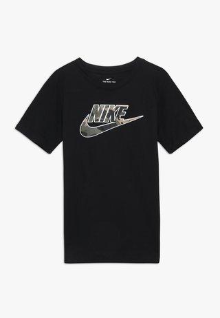 TEE FUTURA FILL - Print T-shirt - black