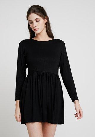 PLAIN SMOCK - Vestito di maglina - black