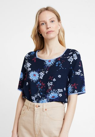 BLOUSE CREW NECK EASY SHAPE - Bluse - combo