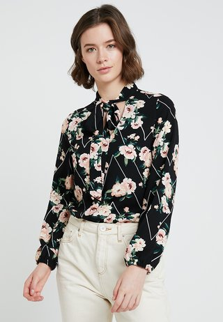 TIE NECK TOP - Bluse - floral