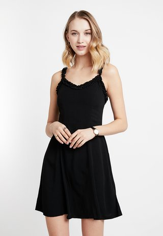 RUFFLE EDGE SUNDRESS - Freizeitkleid - black
