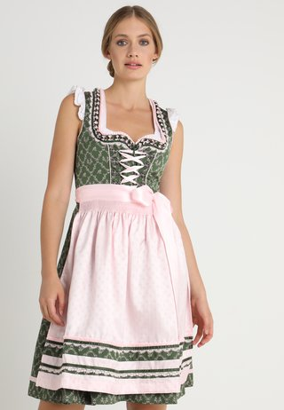 MAGRIT - Dirndl - grün/rosa