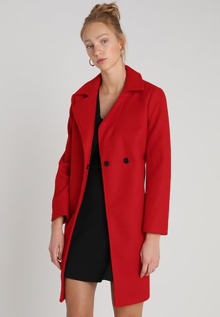 POPPER SWING - Short coat - red