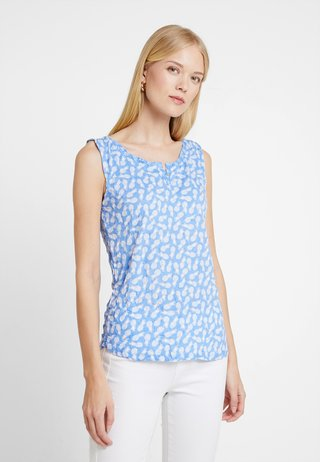 CRINCLE WITH PRINT - Top - blue
