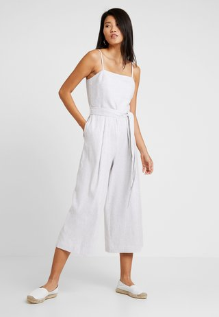 STRIPE SQUARE NECK JUMPSUIT - Overall / Jumpsuit /Buksedragter - white/navy