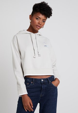 CROPPED HOODIE - Sweat à capuche - raw white
