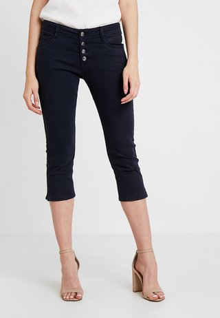 SHAPE CAPRI - Shorts vaqueros - navy denim